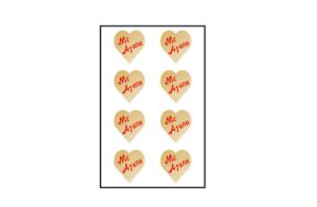 "GOLD HEARTS STICKERS ""WITH LOVE"""